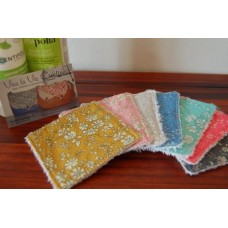 Lot de 7 lingettes lavables en Liberty Capel
