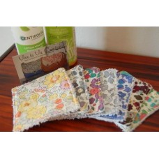 Lot de 7 lingettes lavables en Liberty Betsy