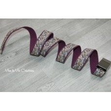 Ceinture en sangle prune et Liberty Betsy Ann figue