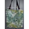 Tote bag, sac shopping imprimé palmier