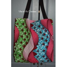 Tote bag, sac shopping wax rose