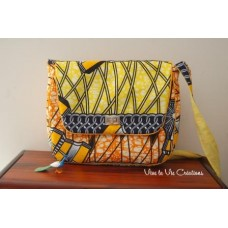 Sac Tourni ,Wax orange et jaune